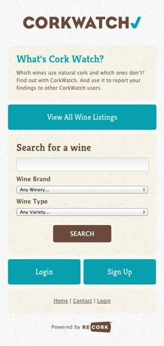 FOR ALL YOU WINE-LOVERS OUT THERE: There's an App that lets you know which WINE BOTTLES have natural corks!!