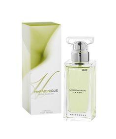 NAZWA: Damskie perfumy z feromonami HARMONIQUE  FIRMA: Miiko Nakaido  POJEMNOŚĆ: 50ml  ZAPACH:      Harmonique Zielony    Perfumy Miiko Nakaido stworzone są dla osób chcących podkreślić swoją atrakcyjność. Feromony zawarte w perfumach są bezwonne lecz posiadają szczególne właściwości    Skład zapachów:  Harmonique – Nuta głowy, serca, bazy – ambra, piżmo, wanilia Kompozycja nie dzieli się na typowe nuty zapachowe