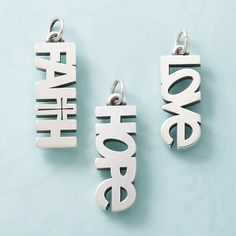 Faith, Hope, & Love Charms #charms