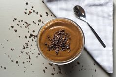 Sexy Chocolate Smoothie: 1/2 avocado 1/2 frozen banana 4 tsp raw cacao powder 3 medjool dates 1 cup almond milk or other dairy free milk 1/2 cup water (optional, to thin)