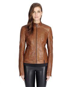 RUDSAK Women - Outerwear (COHIBA, GENUINE LAMB LEATHER, NEOPRENE) | NICKI