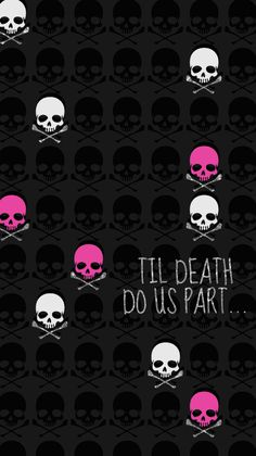 Pink Skull Wallpaper, Pink And Black Wallpaper, Emo Wallpaper, Butterfly Wallpaper, Cellphone Wallpaper, Wallpaper Backgrounds, Iphone Wallpapers, Cute Pink Background, Backgrounds Girly