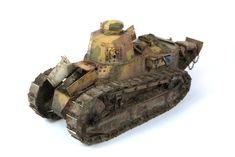 French Renault FT-17, MENG MODEL 1/35 scale. By Ondrej Moricky. #WW1 #scale_model #tank