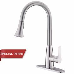 Valisy Lead-Free High-Arch Kitchen Faucet