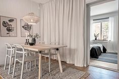 Ikea 'Ypperlig' chairs & dining table