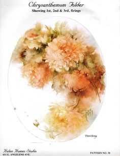 #58 Chrysanthemum China Painting Study by Helen Humes 1977