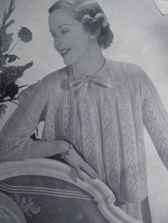 50's vintage knitwear ~ Bed jackets