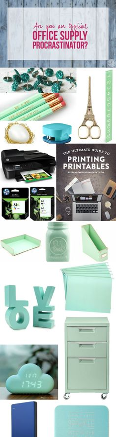 Are you an Official Office Supply Procrastinator with Happily Ever After, Etc.