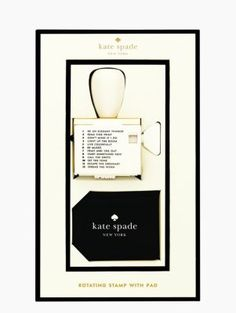 rotating stamp with pad - kate spade new york