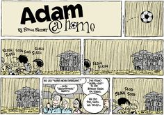 Get your detergent ready for spring soccer. Adam@home #humor #comics #Spring #rain #mud