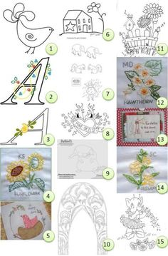 Free patterns: Hand embroidery - the house is really cute
