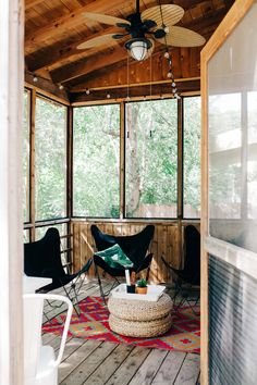 Bohemian sunroom.