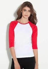 8fc29a53294 Bella Ladies Baby Rib Contrast Raglan T-Shirt