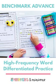 Are you looking for additional high frequency word practice for your first graders? This resource includes differentiated practice pages for all of the Benchmark Advance high frequency words from all ten units. There are also checklists and fluency mats to help you assess each word!