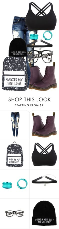 """""""I got my first full paycheck ✊🤘"""" by digital-minerva ❤ liked on Polyvore featuring Dr. Martens and Retrò"""