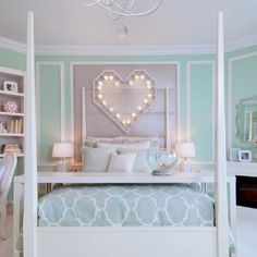 Imagem de room, bedroom, and heart