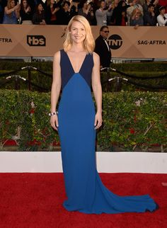 Claire Danes in a Stella McCartney dress and Tiffany & Co. jewelry