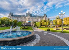 Panoramic View Of Cultural Palace And Central Square In Iasi City, Moldavia Romania Stock Image - Image of capital, building: 135199653 Central Square, Landscaping Images, Culture, Mansions, Landscape, House Styles, City, Gallery, Building