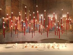 """The 2013 Salone del Mobile in Milan. From Ingo Maurer´s showroom the new LED light """"My New Flame""""...Fantastic!"""