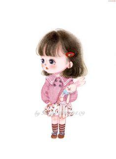 Cartoon Girl Images, Girl Cartoon Characters, Cute Cartoon Pictures, Cute Cartoon Girl, Cute Love Cartoons, Cartoon Girl Drawing, Anime Girl Drawings, Cute Girl Face, Anime Art Girl