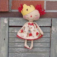 Valentine's+Day+Princess+vintage+retro+kitty+by+CindysHomespun