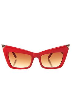 *MKL Accessories The Fang Tip Sunglasses in Red