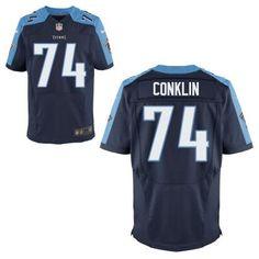 Tennessee Titans #74 Jack Conklin Nike Navy Blue Elite 2016 Draft Pick Jersey