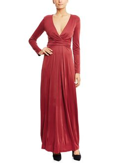 On ideel: BCBGMAXAZRIA Long Sleeve Wrap Maxi Dress
