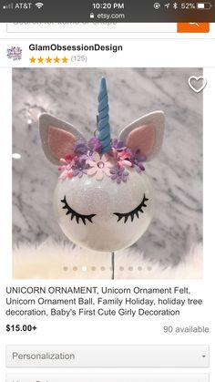 Diy #unicorn #ornament #christmas #tree