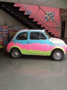 #Decopatch #decoupage #car #vehicle #fiat #DIY #Decorate #Craft paper