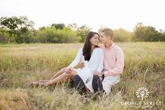 Nothings better than an engagement shoot in a field at sunset :)