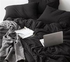 dorm room bedding, dorm room softest luxury sheets, black sheet set, twin xl, black room theme