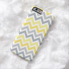 iPhone 6 Cases | Yellow Gray Ombre Chevron Stripe | iPhone 6 case iPhone 6 Case