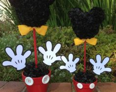 Items similar to Mickey Mouse Centerpiece, 12 Inch Mickey Mouse Party Decorations on Etsy Disney Centerpieces, Mickey Mouse Birthday Decorations, Mickey Mouse Centerpiece, Mickey Mouse Clubhouse Birthday, Mickey Birthday, 2nd Birthday, Mickey Minnie Mouse, Mickey Mouse Crafts, Fiesta Mickey Mouse