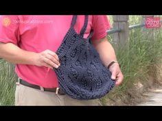▶ Crochet Rich Textures Tote Tutorial - Bag Challenge - YouTube