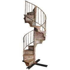 Pinewood Spiral Staircase - France 19th century