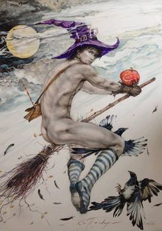 I like gay comics. Art Gay, Male Witch, Traditional Witchcraft, Witch Tattoo, Carlin, Gay Comics, Art Of Man, Witch Art, Wiccan