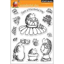 New Penny Black RUBBER STAMP clear Acrylic WONDERFUL DAY set free usa ship