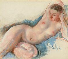 Zinaida Serebriakova, Reclining Nude. ]]>