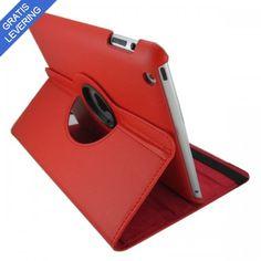 iPad cover med 360 graders roterende case - Rød
