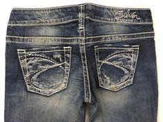 SILVER JEANS Cheap SALE Low Rise Destructed Tuesday Slim Skinny Jean 28,29,30,31 #SilverJeans #SlimSkinny