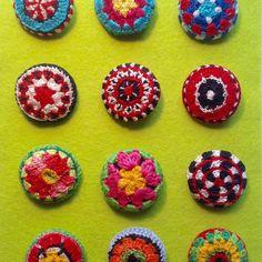 Crochet buttons - Maria Gullberg