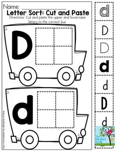 LETTER SORT and TONS of other great printable! Great for building fine motor…