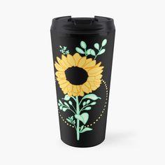 'Sunflower ' Travel Mug by pixelpixelpixel Planting Sunflowers, Travel Mug, Cups, My Arts, Art Prints, Printed, Awesome, Shop, Plants