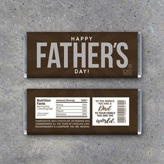 Happy FATHER'S DAY Candy Bar Wrappers  Printable Instant