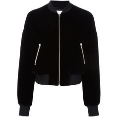 T By Alexander Wang velvet bomber jacket ($705) ❤ liked on Polyvore featuring outerwear, jackets, black, velvet jacket, blouson jacket, t by alexander wang, long sleeve jacket and t by alexander wang jacket