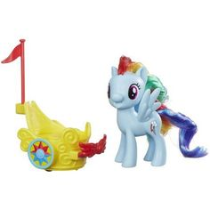 My Little Pony Rainbow Dash Royal Spin-Along Chariot, Multicolor