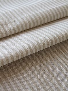 Linen fabric striped for curtains or upholstery