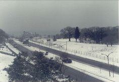 Gelik restaurant'ın yer aldığı Ataköy yolu karlı bir günde.