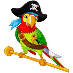 CLIPART PIRATE PARROT | Royalty free vector design